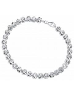 Mon-bijou - D2958 - Bracelet zirconia en argent 925/1000
