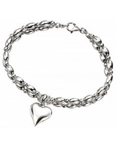 Mon-bijou - D3698 - Bracelet coeur en argent 925/1000