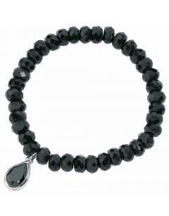 Mon-bijou - D2934 - Bracelet stretch onyx et zirconia en argent 925/1000