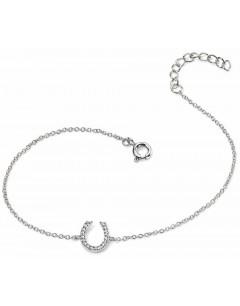 Mon-bijou - D4227 - Bracelet porte bonheur fer à cheval en argent 925/1000