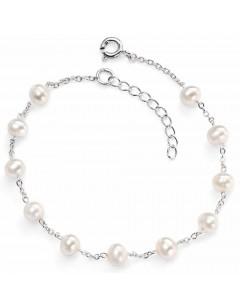 Mon-bijou - D4299 - Bracelet perle d'eau douce en argent 925/1000
