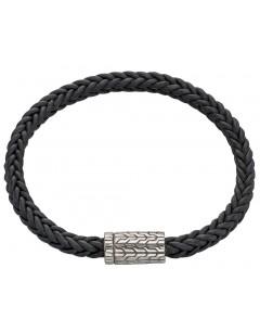 Mon-bijou - D4675 - Bracelet cuir en argent 925/1000