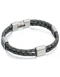 Mon-bijou - D4215 - Bracelets chic cuire en acier inoxydable