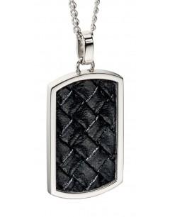 Mon-bijou - D4001c - Collier chic cuire en acier inoxydable