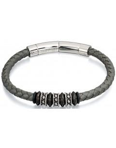 Mon-bijou - D4728c - Bracelets chic cuir en acier oxydées