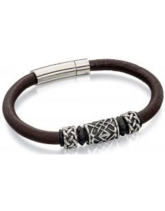 Mon-bijou - D4739 - Bracelets chic cuir en acier oxydées inoxydable