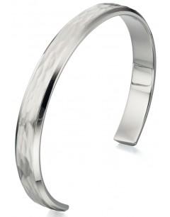 Mon-bijou - D4724 - Bracelet brossé et poli en acier inoxydable