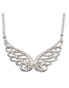 Mon-bijou - D3860 - Collier tendance ailes ange plaqué rhodium en argent 925/1000