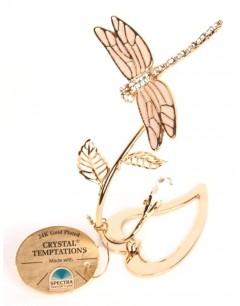 Mon-bijou - D5728 - Libellule en cristal et doré à l'or fin 24 carats Spectra® Swarovski® Crystal Temptation®