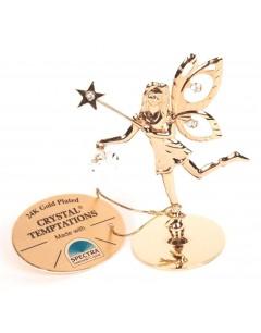 Mon-bijou - D7728 - Fée en cristal de Swarovski et doré à l'or fin 24 carats Spectra® Swarovski® Crystal Temptations®