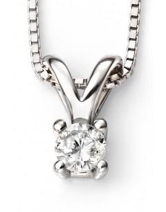 Mon-bijou - D266a - Superbe collier diamant solitaire en Or blanc 375/1000