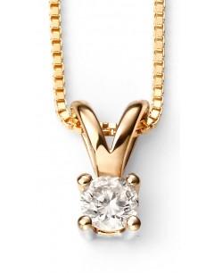 Mon-bijou - D267 - Superbe collier diamant solitaire en Or 375/1000