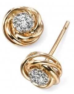 Mon-bijou - D2031c - Boucle d'oreille diamant en Or 375/1000