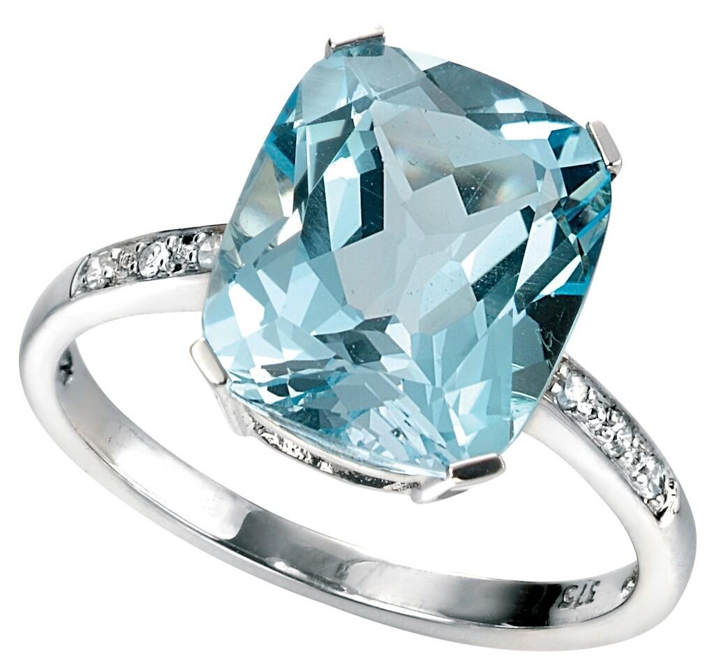 bague diamant et topaze