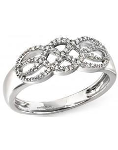 Mon-bijou - D486c - Bague Diamant en Or blanc 375/1000