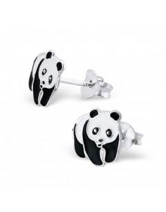 Mon-bijou - H7391 - Boucle d'oreille Panda en argent 925/1000