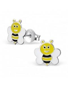 Mon-bijou - H17792 - Boucle d'oreille Maya l'abeille en argent 925/1000