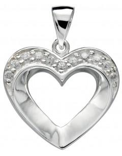 Mon-bijou - D3912 - Jolie collier coeur en argent 925/1000