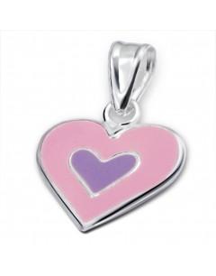 mon-bijou - H1023 - Collier cœur en argent 925/1000