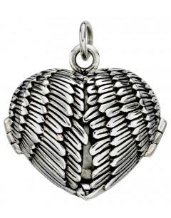 Mon-bijou - D3919 - Collier pendentif photo ailes en argent 925/1000