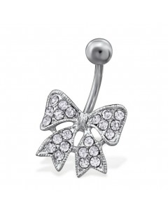 Mon-bijou - H29734 - Jolie piercing noeud en acier inoxydable