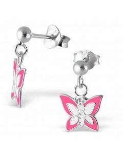 Mon-bijou - H4746 - Boucle d'oreille papillon en argent 925/1000