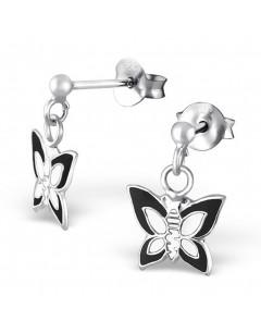 Mon-bijou - H4745 - Boucle d'oreille papillon en argent 925/1000