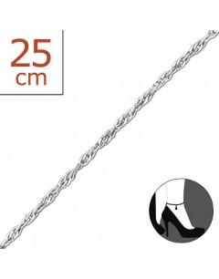 Mon-bijou - H209z - Chaîne cheville charmes en argent 925/1000