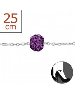 Mon-bijou - H616z - Chaîne cheville en argent 925/1000