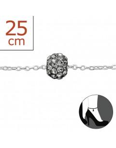 Mon-bijou - H612z - Chaîne cheville en argent 925/1000