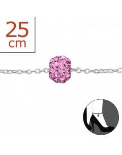 Mon-bijou - H625z - Chaîne cheville en argent 925/1000
