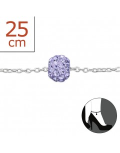 Mon-bijou - H6256z - Chaîne cheville en argent 925/1000
