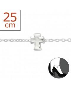 Mon-bijou - H6366z - Chaîne cheville en argent 925/1000