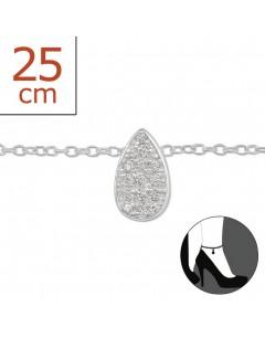 Mon-bijou - H6304 - Chaîne cheville en argent 925/1000