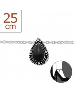 Mon-bijou - H6450 - Chaîne cheville en argent 925/1000