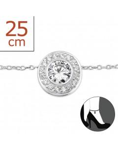 Mon-bijou - H7013 - Chaîne cheville en argent 925/1000