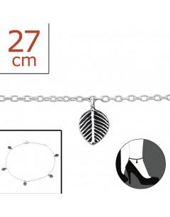 Mon-bijou - H1612z - Chaîne cheville en argent 925/1000