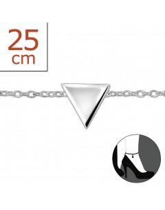 Mon-bijou - H2542z - Chaîne cheville triangle en argent 925/1000