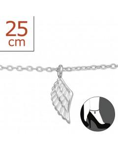 Mon-bijou - H5422z - Chaîne cheville aile ange en argent 925/1000
