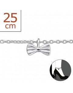 Mon-bijou - H5765z - Chaîne cheville en argent 925/1000