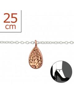 Mon-bijou - H6303z - Chaîne cheville en argent 925/1000