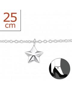 Mon-bijou - H6407z - Chaîne cheville en argent 925/1000