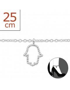 Mon-bijou - H6410z - Chaîne cheville en argent 925/1000