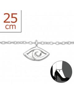 Mon-bijou - H6443z - Chaîne cheville en argent 925/1000