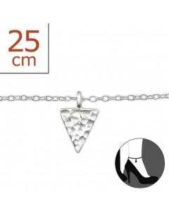 Mon-bijou - H6445z - Chaîne cheville en argent 925/1000