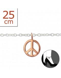 Mon-bijou - H6460z - Chaîne cheville en argent 925/1000