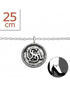 Mon-bijou - H7185z - Chaîne cheville en argent 925/1000