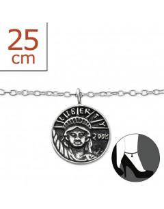 Mon-bijou - H7194z - Chaîne cheville en argent 925/1000