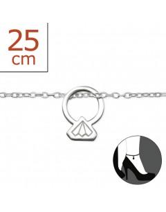 Mon-bijou - H7264z - Chaîne cheville en argent 925/1000