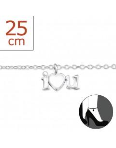 Mon-bijou - H7266z - Chaîne cheville en argent 925/1000